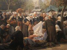 Le marché aux chiffons en Finistère de Jules Trayer - 1886