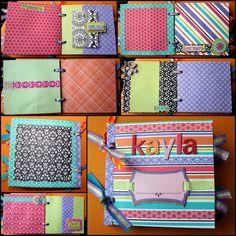 Paper Bag Scrapbook Album {Breezy Pink Daisies}