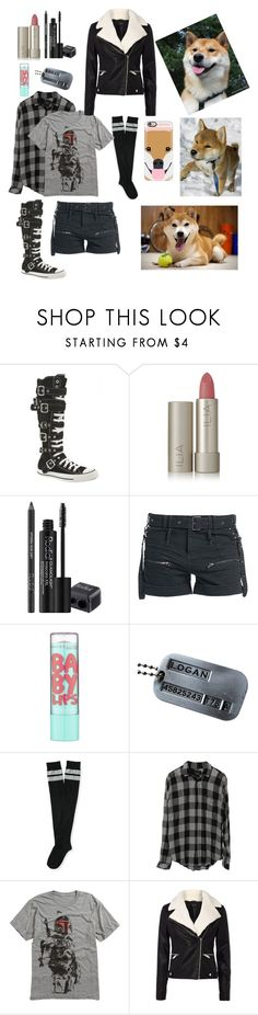 """i ♡shiba inus"" by bobthechob ❤ liked on Polyvore featuring Converse, Ilia, Rodial, Maybelline, Wolverine, Aéropostale, Rails, Therapy, Casetify and Yuki"