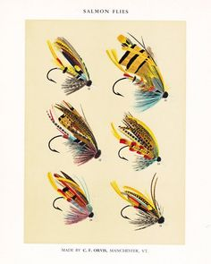 Fly Fishing Print, a printable vintage illustration from ArtDeco on Etsy, a good source for digital images. Fly Fishing Books, Best Fishing, Fishing Tips, Fishing Lures, Fishing Boots, Ice Fishing, Fishing Bobbers, Tuna Fishing, Fishing Basics