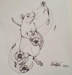 #rat#draw#tattoo - art_vagabon