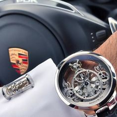 Checkout this badass Porsche x Arnold & son timepiece. Would you wear this watch? Spotted 📸 belselah Tag us for a chance to be featured! High End Watches, Fine Watches, Watches For Men, Emporio Armani, Porsche 911, Hugo Boss, Fashion Bible, Expensive Watches, Beautiful Watches