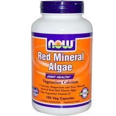Barato AGORA Vermelho Mineral Algas Vegetariano Cslcium 180 cápsulas Vegetais…
