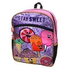e8d08e2462a7 EmojiNation 16 Stay Sweet Backpack - Pink. School Supplies  OrganizationPurple FabricKids BackpacksLunch BagsStudent Supply Organization