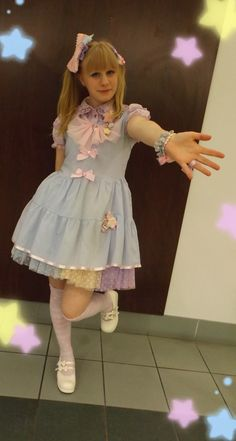 This is my mahou kei outfit from G-Anime last friday. Do you like it? (ノ*ヮ*)ノ*:・゚✧ ~ Outfit ~ Magical Ballerina Chiffon Dress : Pinkly Ever After Blouse : Bodyline Star clip : SKSS Bows: Pinkly Ever...