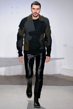 Maison Martin Margiela, F2013. Patchwork and colors, if not the specific use of beanies.