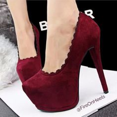 Fashion Women Shoes Hollow Out Lace Ultra Thin High Women Pumps Platforms Sexy Club Suede Women's Party Shoes Lace High Heels, Slip On Pumps, Platform High Heels, Red Heels, High Heel Pumps, Womens High Heels, Women's Pumps, Suede Shoes, Pump Shoes