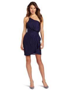 Amazon.com: Bcbgeneration Women's One Shoulder Ruffle Dress, Royal Blue Combo, 8: Clothing