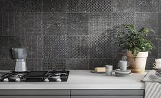 Wall And Floor Tiles, Wall Tiles, Motifs Primitifs, Kitchen Tile Inspiration, Vintage Tile, Floor Patterns, Geometric Patterns, Kitchen Tiles, Funky Kitchen