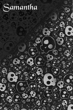 584b9ef3e5a7 Samantha - black n grey skulls Wallpaper S