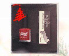 IDEA REGALO mini smalto + rossetto rouge noel!