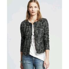 ecd46dae4080c Cool Coated Tweed Moto Jacket Blazer Tweed Coat