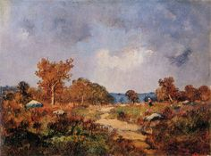 Narcisse-Virgilio Diaz - Autumn Landscape , 1876