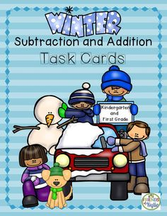 Subtraction and addition task cards.  224 equations.  Answers and recording sheets included. Grades: K-1st.