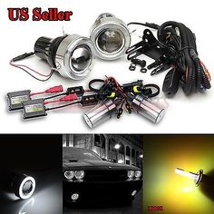 "For vw usa 3"" projector fog #lights+white led #angel #eyes+switch+3000k ac hid ki,  View more on the LINK: 	http://www.zeppy.io/product/gb/2/122101247598/"