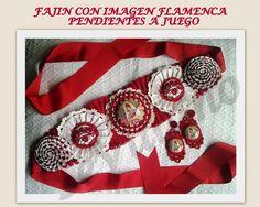 fajin flamenca y pendientes- capricho sevillano