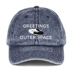 8c2c9fc0705 Greetings UFO Navy Hat GreetingsOuterSpace.com  GreetingsOuterSpace  alien   hat