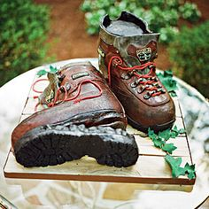 Great Groom's Cakes | Hiking Boots Cake | SouthernLiving.com