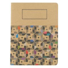 cube geo large kraft exercise book from Paperchase