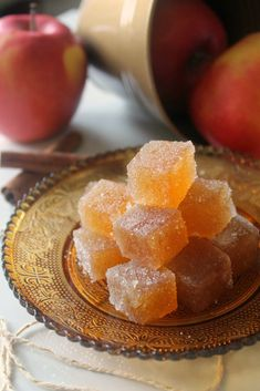 Spice Cider Jelly Candies are a fun and delicious change from the normal holiday goodies!