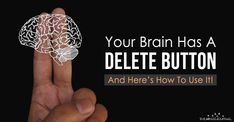 This is the fascinating way that your brain makes space to build new and stronger connections so you can learn more. Your Brain Has A DELETE Button Healthy Brain, Brain Health, Mental Health, Healthy Mind, Psychology Books, Psychology Facts, Neural Connections, Brain Facts, Brain Science
