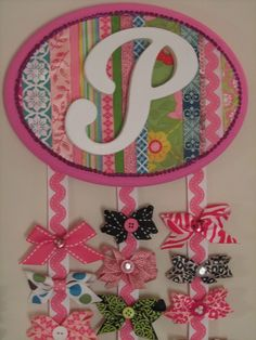 cute ribbon holder for baby girl's room