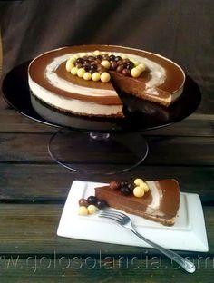 Golosolandia: Recetas de postres (tartas  caseras y postres caseros): Tarta de queso fresco y chocolate