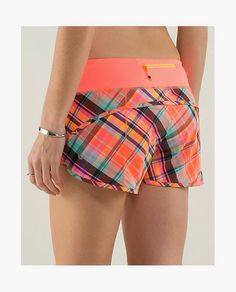 run speed shorts//2 way//flare rad plaid