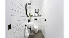 Kim & Chris create a striking black and white Powder Room for The Block challenge apartment.