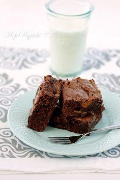Moje Wypieki | Brownies z masą kajmakową