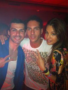 Con Sonia y Cris en #LaPosada después de la gala de #gh14 @Albertodelacru