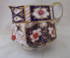 Royal Crown Derby Imari 2451 antique milk jug cream jug creamer dated Collector's gift idea by SwallowCAntiques on Etsy Royal Crown Derby, Vintage Dishes, Vintage Tea, Antique Tea Cups, Milk Jug, Cut Glass, Decoration, Tea Party, Sugar Bowls