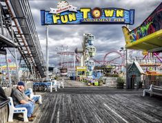 Seaside Heights: Man on a bench by LennyNJ, via Flickr