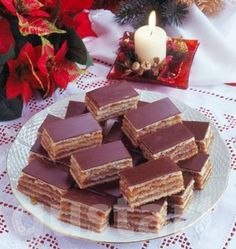 Hungarian Cuisine, Hungarian Recipes, My Recipes, Christmas Cookies, Nutella, Yummy Treats, Waffles, Food And Drink, Sweets