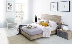 Dormitorio Nuit en acabado natural