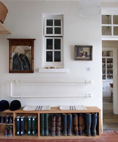 Note to self...create some boot and shoe storage like this for the entry coming from the garage!