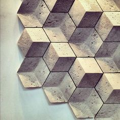Handmade Geometric 3D Wall tiles by Giovanni Barbieri.