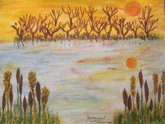 Ősz. Akvarell, papír. 24 x 32 cm.