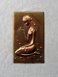 Metal wall plaque Vintage soviet wall decor USSR metal picture