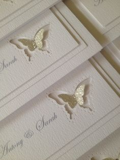 Simple wedding invitation Butterfly Wedding Invitations, Simple Wedding Invitations, Wedding Invitation Cards, Wedding Cards, Wedding Stationery Inspiration, 25th Wedding Anniversary, Butterfly Cards, Creative Cards, Greeting Cards Handmade