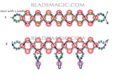 Free pattern for beaded necklace Nataly | Beads Magic