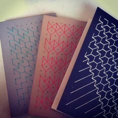 Product/ Style/ Pattern Inspiration  Could be a good solution for non-refillable notebooks because there is not as much of a time investment in the sewing. (Kariniti Studio)