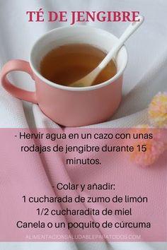 Té de jengibre para bajar la inflamación del vientre. #recetasaludable #tedejengibre #perderpeso