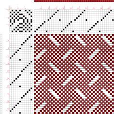 draft image: Figure 676, A Handbook of Weaves by G. H. Oelsner, 12S, 12T