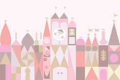 PRINTED Small World Birthday Party Backdrop Small World