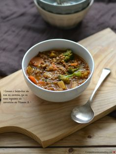 Basic recipe: Lentil soup with broccoli, carrots and sweet potatoes