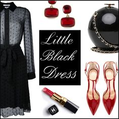Little Black Dress by mrs-polinakorol on Polyvore featuring Givenchy, Gianvito Rossi, Lauren Ralph Lauren and Chanel