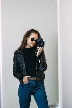 Cute Fashion, Fashion Show, Casual Outfits, Leather Jacket, Hairstyle, Comfy, Celebrities, Sweaters, Jackets