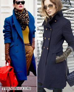 с чем носить синее пальто - Поиск в Google