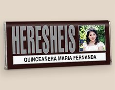 Personalized chocolate bar wrapper Quinceañera party favor ツ Dianne, what do you think! Birthday Table, 15th Birthday, Quinceanera Party Favors, Debut Ideas, Chocolate Bar Wrappers, Candy Crafts, Sweet 16 Parties, Sweet 15, Candy Table